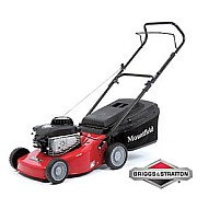 Mountfield 45cm lawn mower with briggs stratton engine for Small lawnmower shed